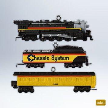 """Hallmark 2012 """"Lionel Chessie Steam Special"""" Ornament Set"""