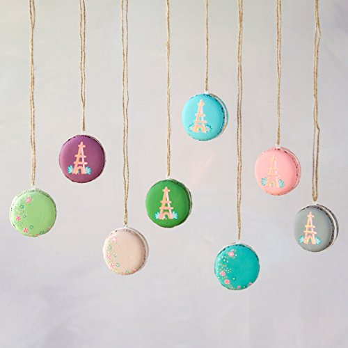 Macaroon Ornaments – Set of 8