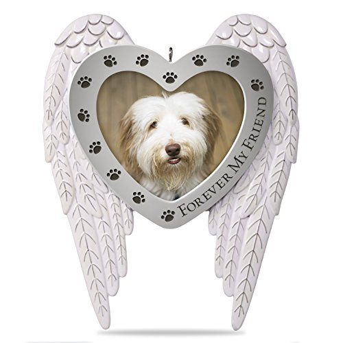 Hallmark Keepsake 2018 Forever my Friend Pet Memorial Bereavement Metal Photo Frame Year Dated Christmas Ornament