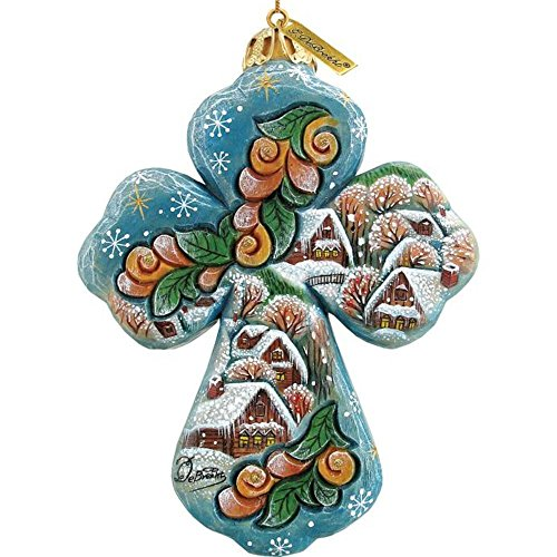 Winter Village Cross Ornament