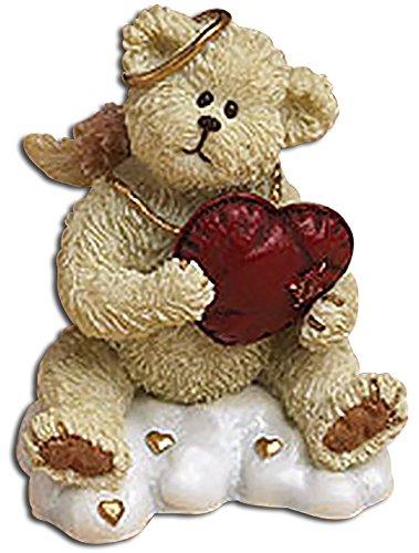 Boyds Lil Wing Huggy Angel Teddy Bear Holding Heart