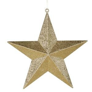 Vickerman 24″ Gold Glitter Finish Star Christmas Ornament