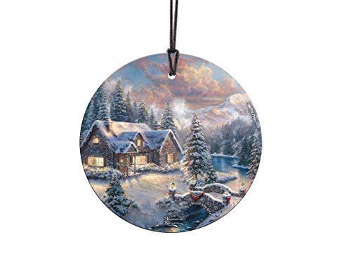 Trend Setters Thomas Kinkade Art High Country Christmas StarFire Prints Hanging Glass