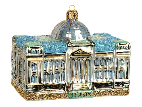 Reichstag Parliament Building Berlin Germany Polish Glass Christmas Ornament