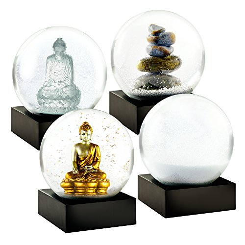 Zen Mini Set of Four Snow Globes by CoolSnowGlobes