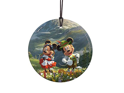 Disney – Mickey and Minnie Mouse – Swiss Alps – Mountains – Light Catcher Suncatcher Hanging Glass Collectible