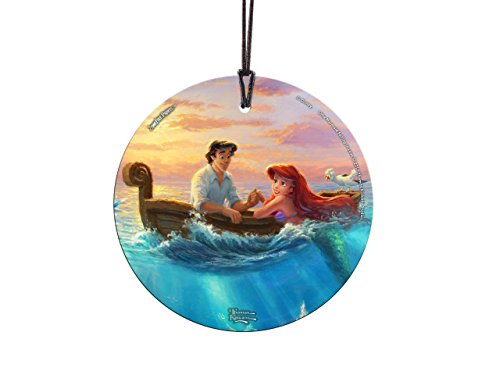 Trend Setters Disney – Little Mermaid – Princess Ariel Prince Eric – Thomas Kinkade – Falling in Love – Light Catcher Suncatcher Hanging Glass Collectible – For Gifting and Collecting – By Ltd.