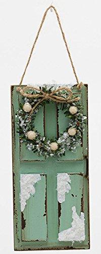 Wreath on Door Ornament (Green)