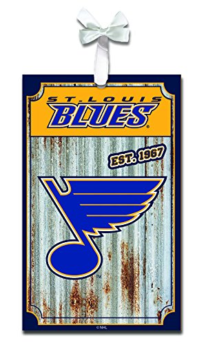Team Sports America St Louis Blues Corrugated Metal Ornament
