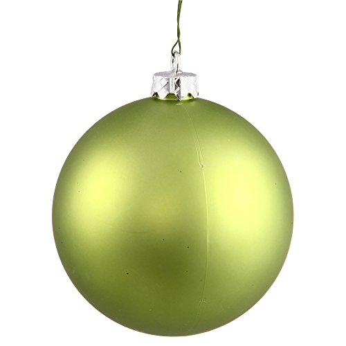 Vickerman Matte Lime UV Resistant Commercial Drilled Shatterproof Christmas Ball Ornament, 8″