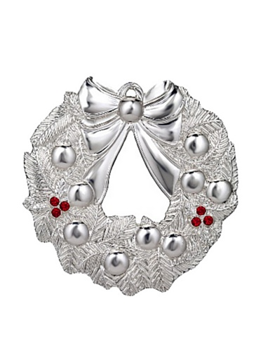 Waterford 2012 Silver Wreath Ornament