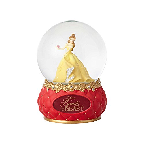 Enesco Disney Showcase Beauty and the Beast Stone Resin and Glass Waterball, 5.5""