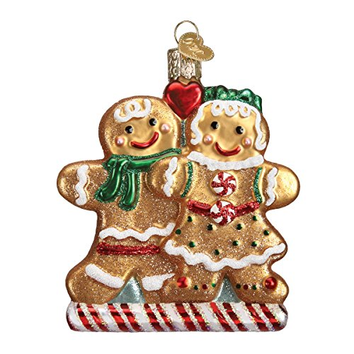 Old World Christmas Gingerbread Friends Glass Blown Ornament
