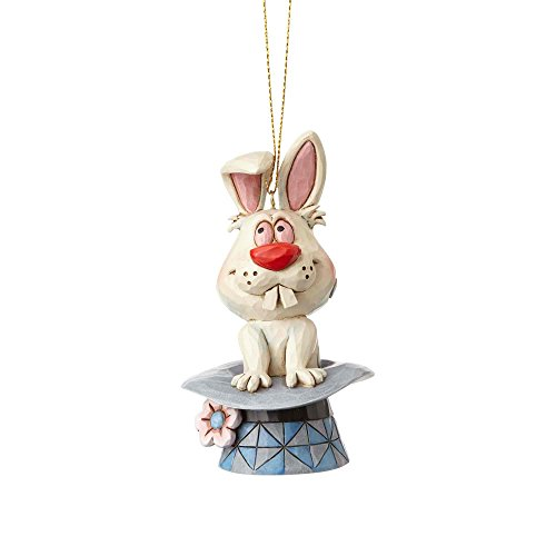 "Jim Shore ""Frosty the Snowman"" Magic Hat Stone Resin Hanging Ornament, 4.125"""