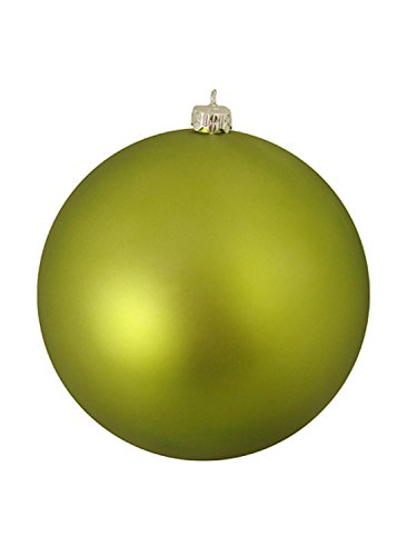 Vickerman Matte Green Kiwi Commercial Shatterproof Christmas Ball Ornament 10″ (250mm)