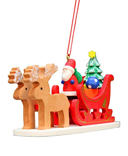 Alexander Taron Christian Ulbricht Santa Claus Sled Decorative Hanging Ornament