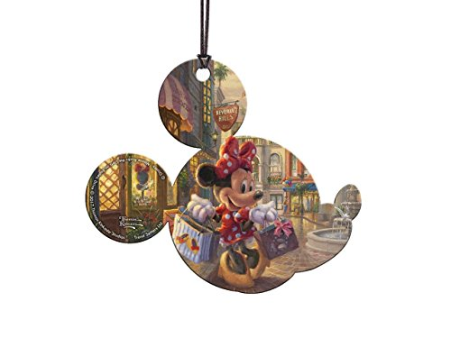 Disney's (Minnie Mouse Rocks the Dots on Rodeo Drive) Hanging Acrylic- Thomas Kinkade Artwork
