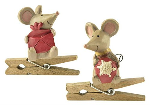 Blossom Bucket Mice with Ornaments Clips #178-51988