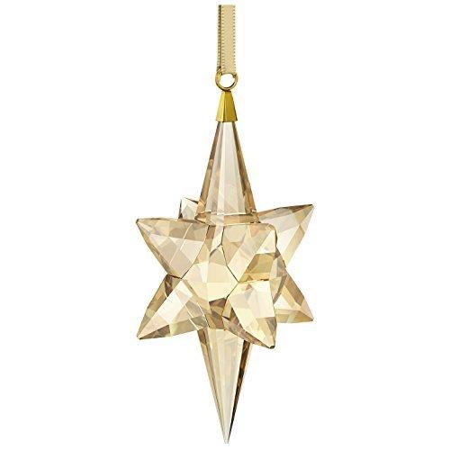 Swarovski Star Ornament, Goldtone Large