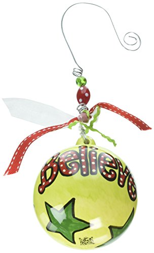 Glory Haus Polka Dot Believe Ball Ornament