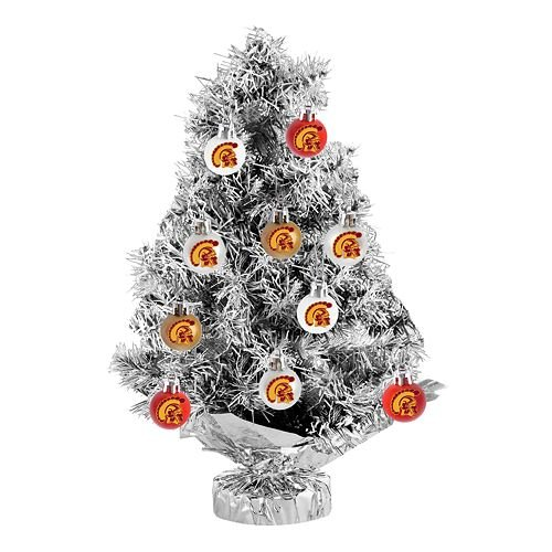 USC Trojans 11-pc. Tabletop Tinsel Christmas Tree and Ornament Set