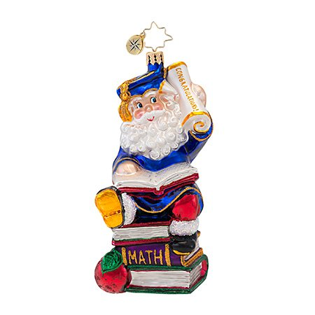 Christopher Radko Smarty Pants Graduation Christmas Ornament EXCLUSIVE