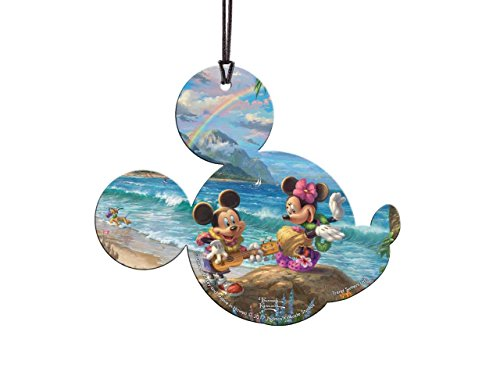 Disney Mickey and Minnie Mouse in Hawaii Shaped Hanging Acrylic – Thomas Kinkade Art