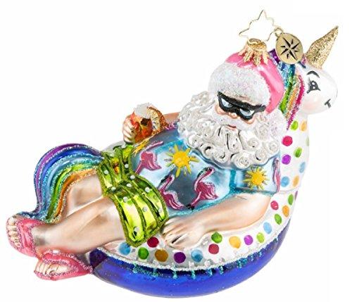Christopher Radko Floating Through The Holidays Glass Ornament 1019558