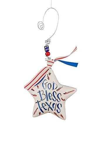 Glory Haus God Bless Texas Star Puff Ornament