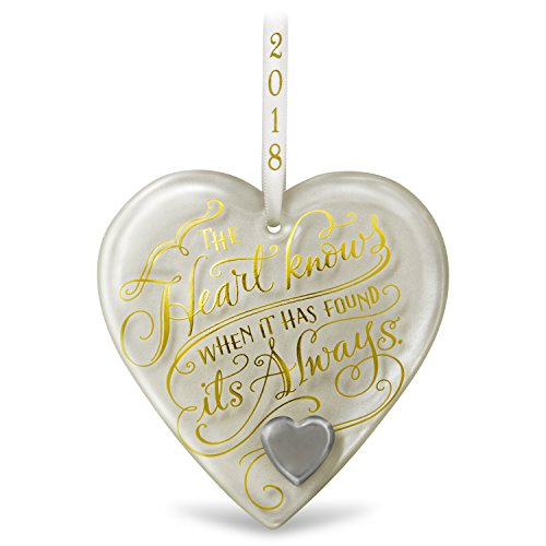Hallmark Keepsake 2018 Happy Anniversary Gift Heart Year Dated Glass Christmas Ornament