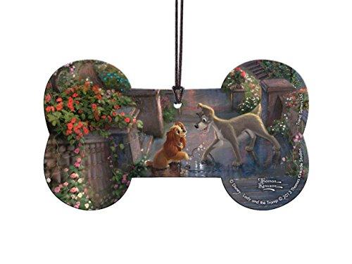 Disney Lady and the Tramp Bone Shaped Hanging Acrylic – Thomas Kinkade Art