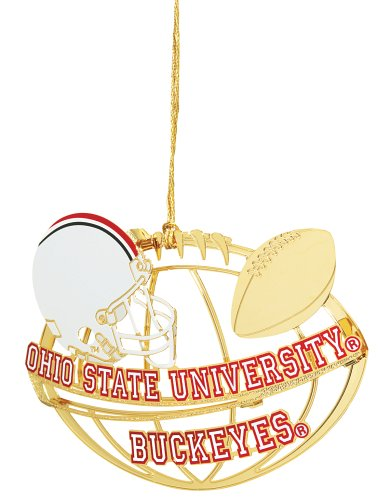 Baldwin Ohio State University Football Helmet 3-inch Sports Ornament