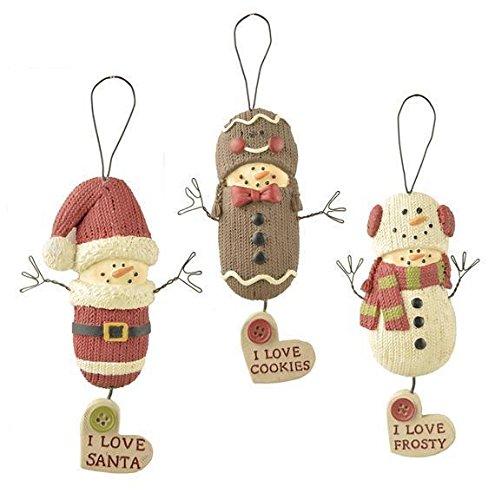 Blossom Bucket – Santa/Snowman/Gingerbread Ornaments #168-51885