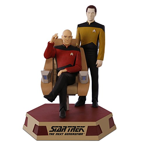 Hallmark Keepsake 2017 STAR TREK: The Next Generation Captain Jean-Luc Picard and Lieutenant Commander Data Sound Christmas Ornament