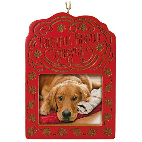 Hallmark Keepsake 2017 Faithful Friend Forever Pet Bereavement Photo Holder Dated Christmas Ornament