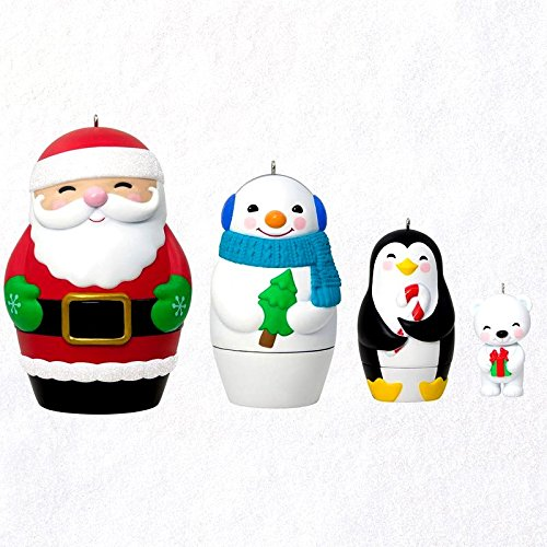 Hallmark 2018 Nesting Doll Surprise Mystery Box Exclusive Ornaments Set of 3