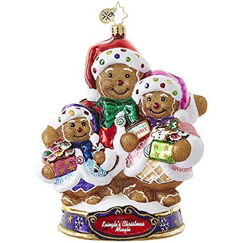 Christopher Radko Bearing Sweet Treats Gingerbread Kringle's Christmas Mingle Ornament