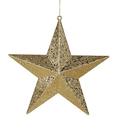 Vickerman 6″ Classical Gold with Matching Glitter Christmas Star Ornament