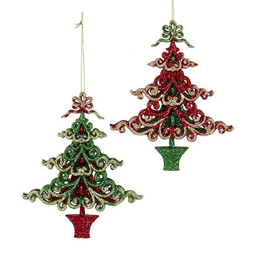 Kurt Adler YAMT1897 6″ Tree Ornament (Set of 2)