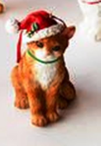 One Hundred 80 Degrees Cat Ornament with Coordinated Bag (Red Hat)