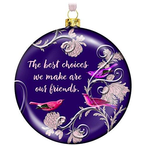 Hallmark Keepsake 2017 Elegant Friends Forever Glass Christmas Ornament