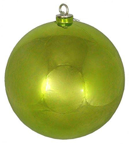 Vickerman Shiny Green Kiwi Commercial Shatterproof Christmas Ball Ornament 12″ (300MM)
