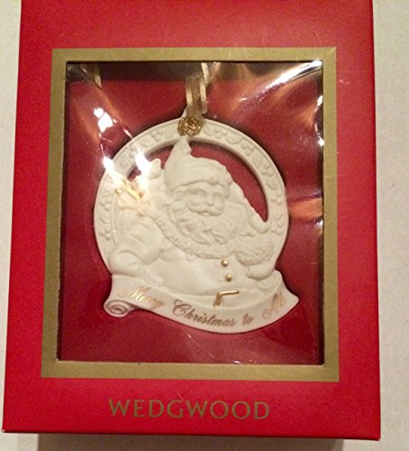 Wedgwood Merry Christmas to All Santa Ornament