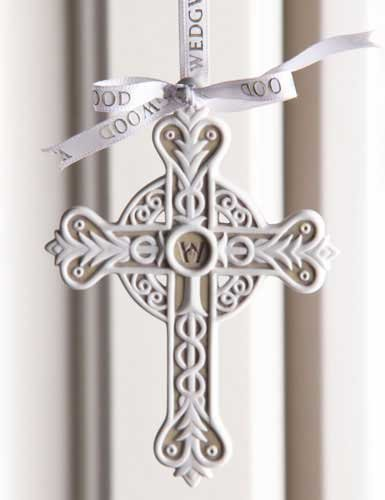 Wedgwood 2013 Christmas Tree Figural Cross Ornament by Wedgwood