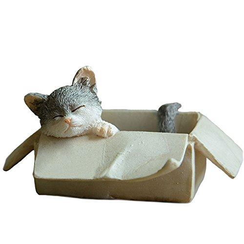 Gemmia Cat Fairy Figurine Ornament- box grey cat