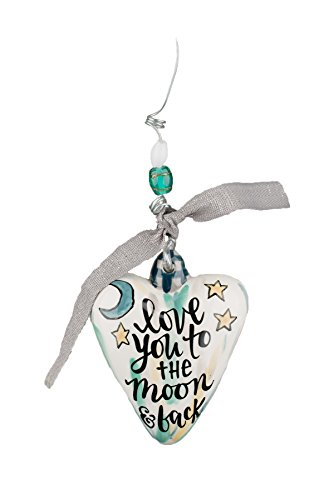 Glory Haus Love You to the Moon Puff Heart Ornament, Multicolor