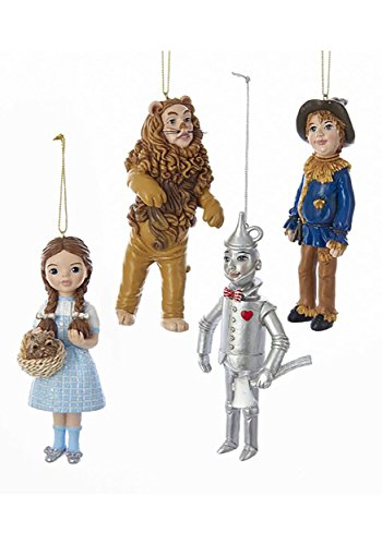Kurt Adler C7958 6″ Wonderful Wizard of Oz Ornament Set of 4
