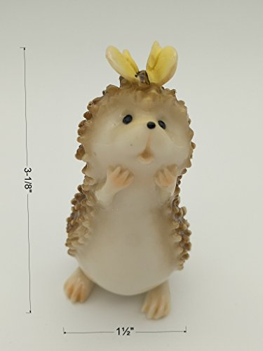 Gemmia Hedgehog Fairy Figurine Ornament – Butterfly/Hedgehog