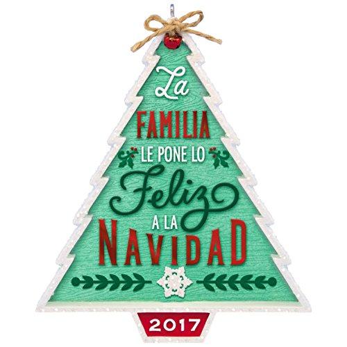 Hallmark Keepsake 2017 Nuestra Familia…Nuestra Navidad Dated Christmas Ornament
