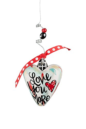 Glory Haus Love You More Puff Heart Ornament, Multicolor